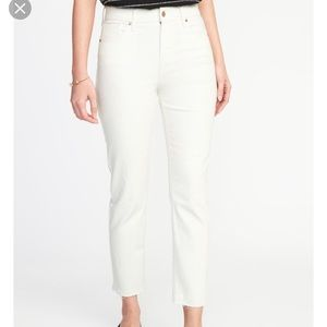 Old Navy Power Straight White Jeans